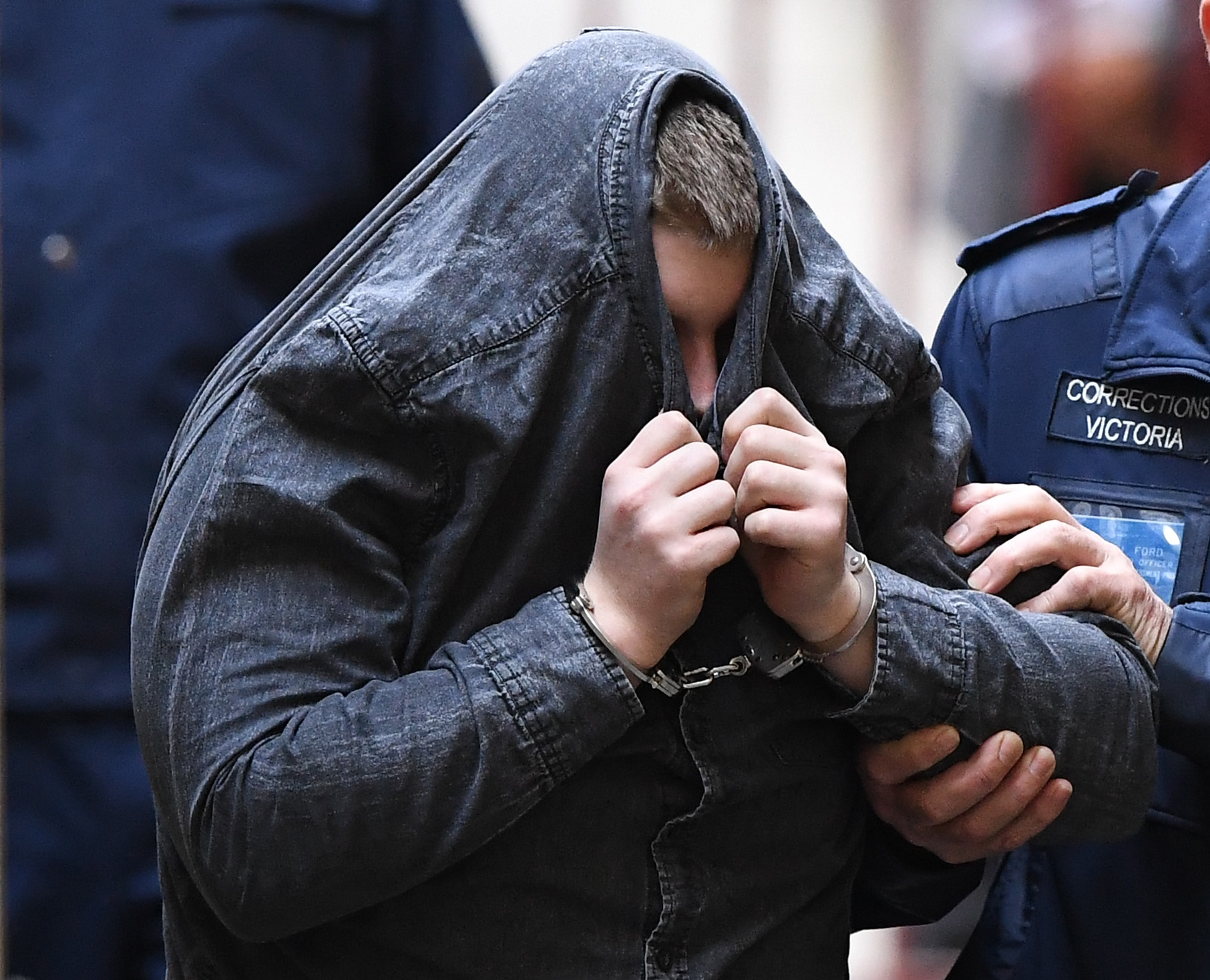 Jaymes Todd is led into the Supreme Court of Victoria in Melbourne, Monday, September 2, 2019. Jaymes Todd is set to be sentenced for the rape and murder of aspiring comedian Eurydice Dixon in a Melbourne park. (AAP Image/Julian Smith) NO ARCHIVING