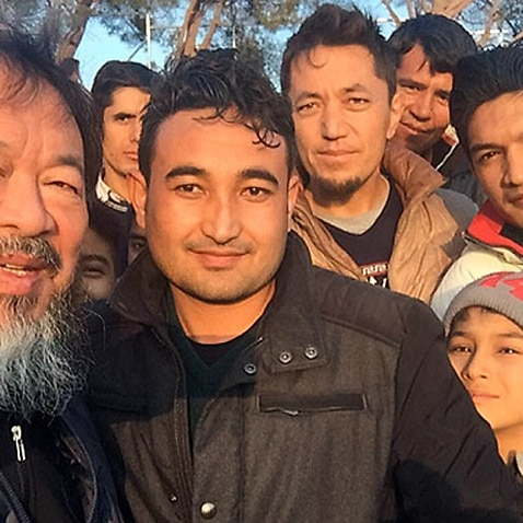 Ai Weiwei posts a photo on Instagram with the 'brave man from Afghanistan'