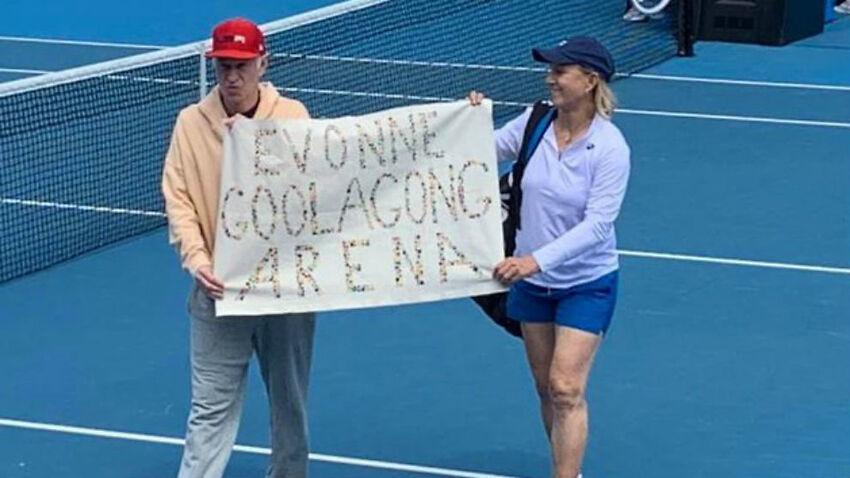 Martina Navratilova y John McEnroe