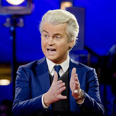 Dutch right-wing Freedom Party leader Geert Wilders