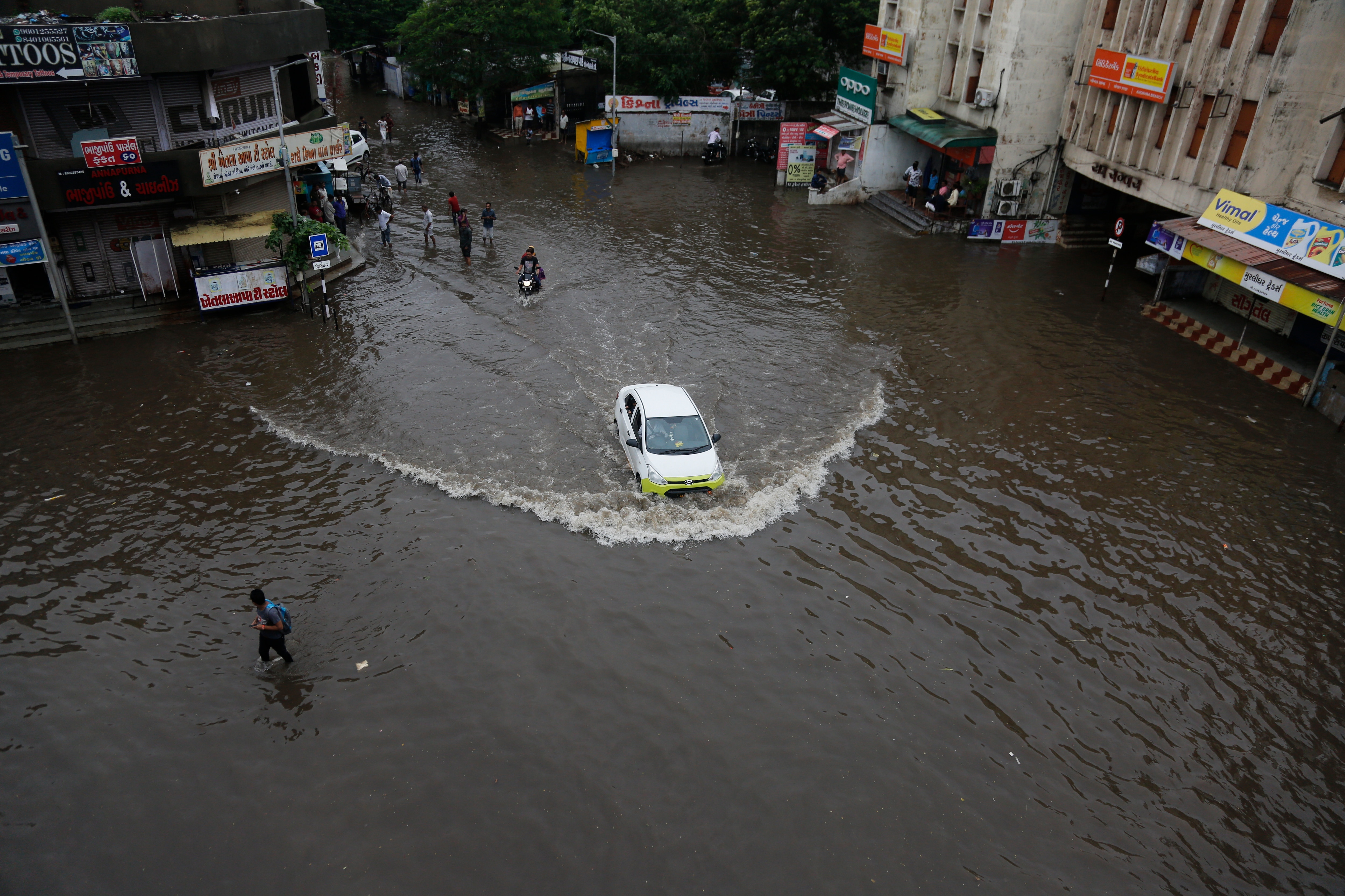 India's monsoon rain runs from June through September, typically bringing chaos.