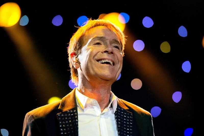 British singer Cliff Richard performs on stage at the Ziggo Dome in Amsterdam, Netherlands, 17 May 2014.