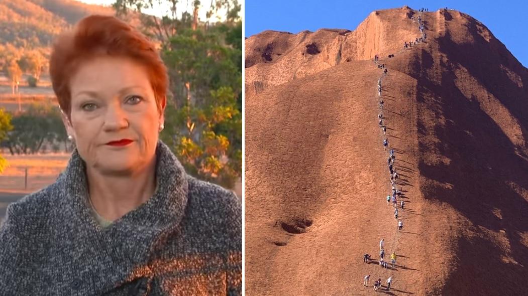 Pauline Hanson on Today and climbers scale Uluru.