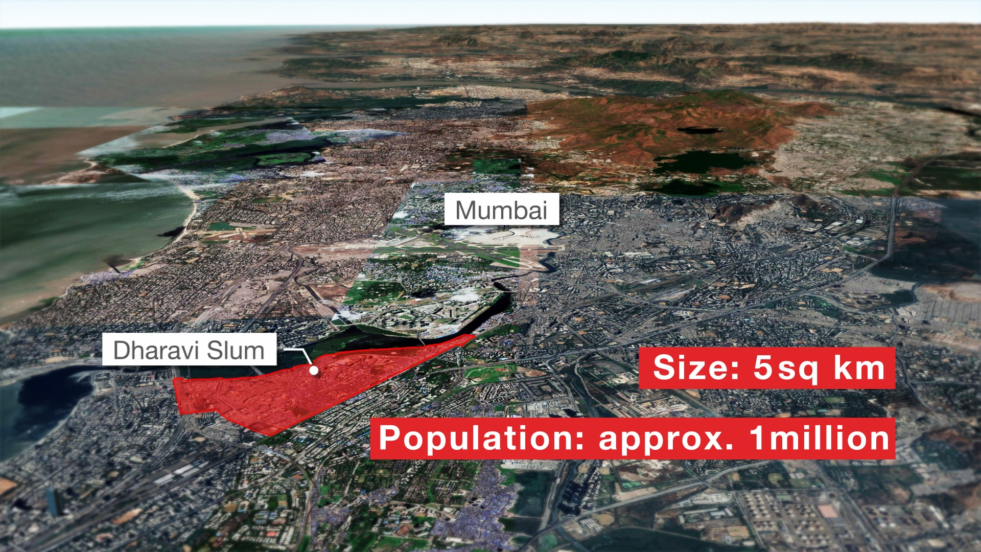 A look at Dharavi slum in Mumbai, India.