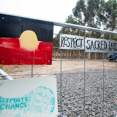 Protesters clashing with police as roadworks begin on a controversial freeway duplication in country Victoria.