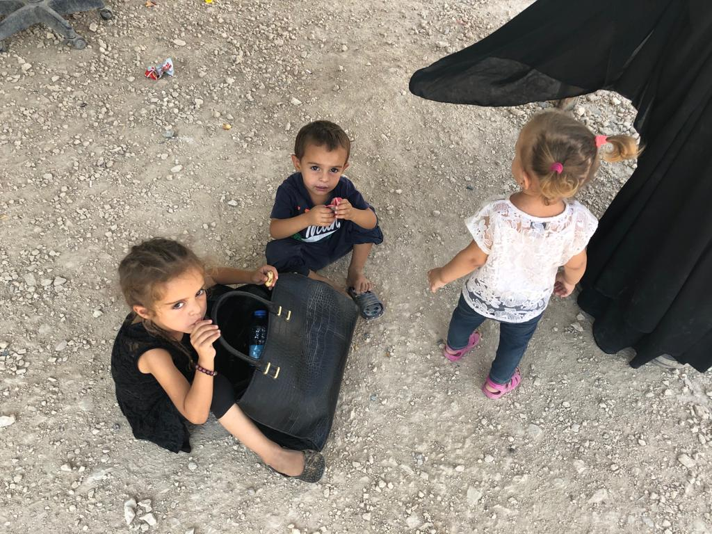 Kamalle Dabboussy's grandchildren when they were detained at the Al Hol refugee camp in north-eastern Syria.