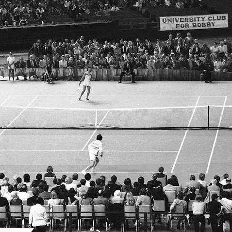 Billie Jean King takes on Bobby Riggs.