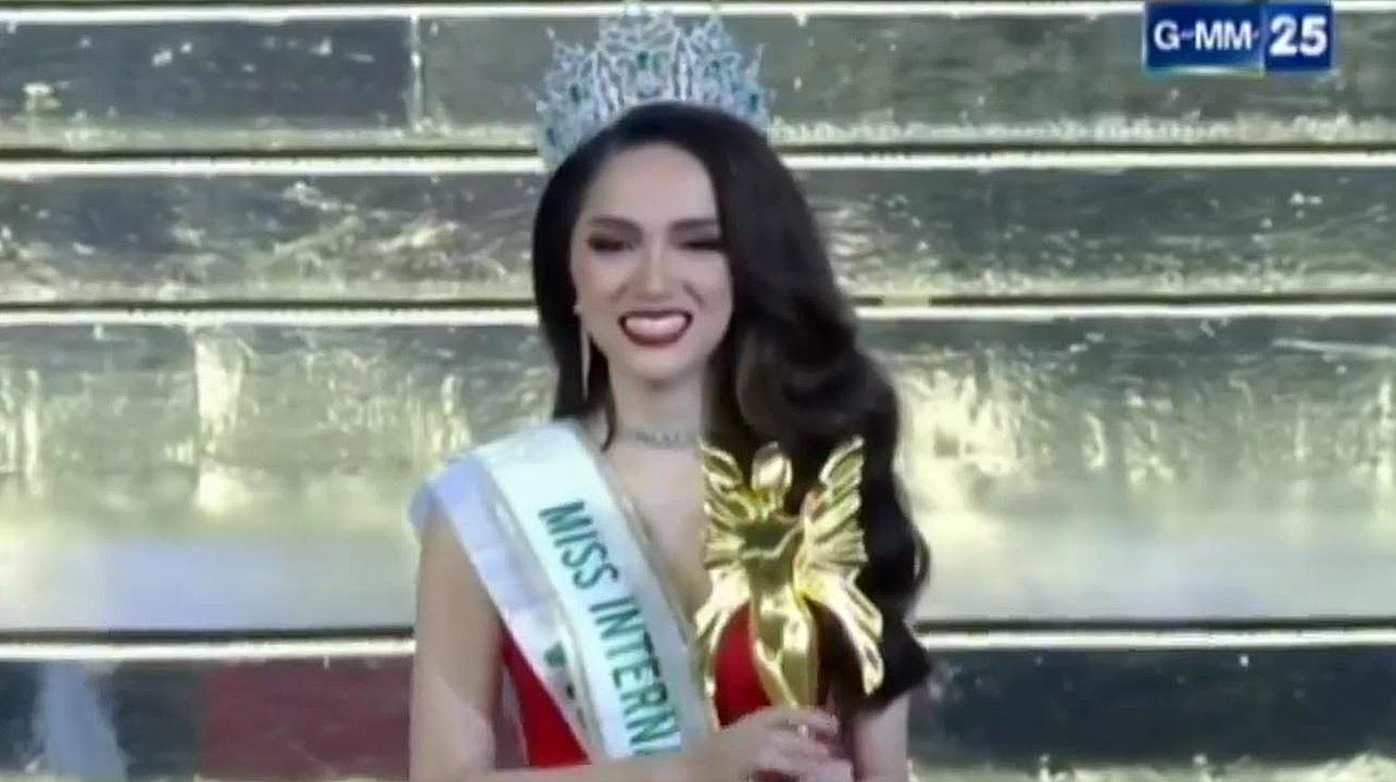 Nguyen Huong Giang crowned 'Miss International Queen'.