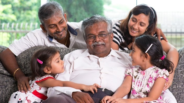 Multi generations Indian family