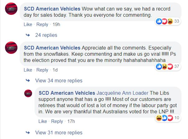 """SCD American Vehicles hits back at those critical of its promotional video, calling some respondants """"snowflakes."""""""