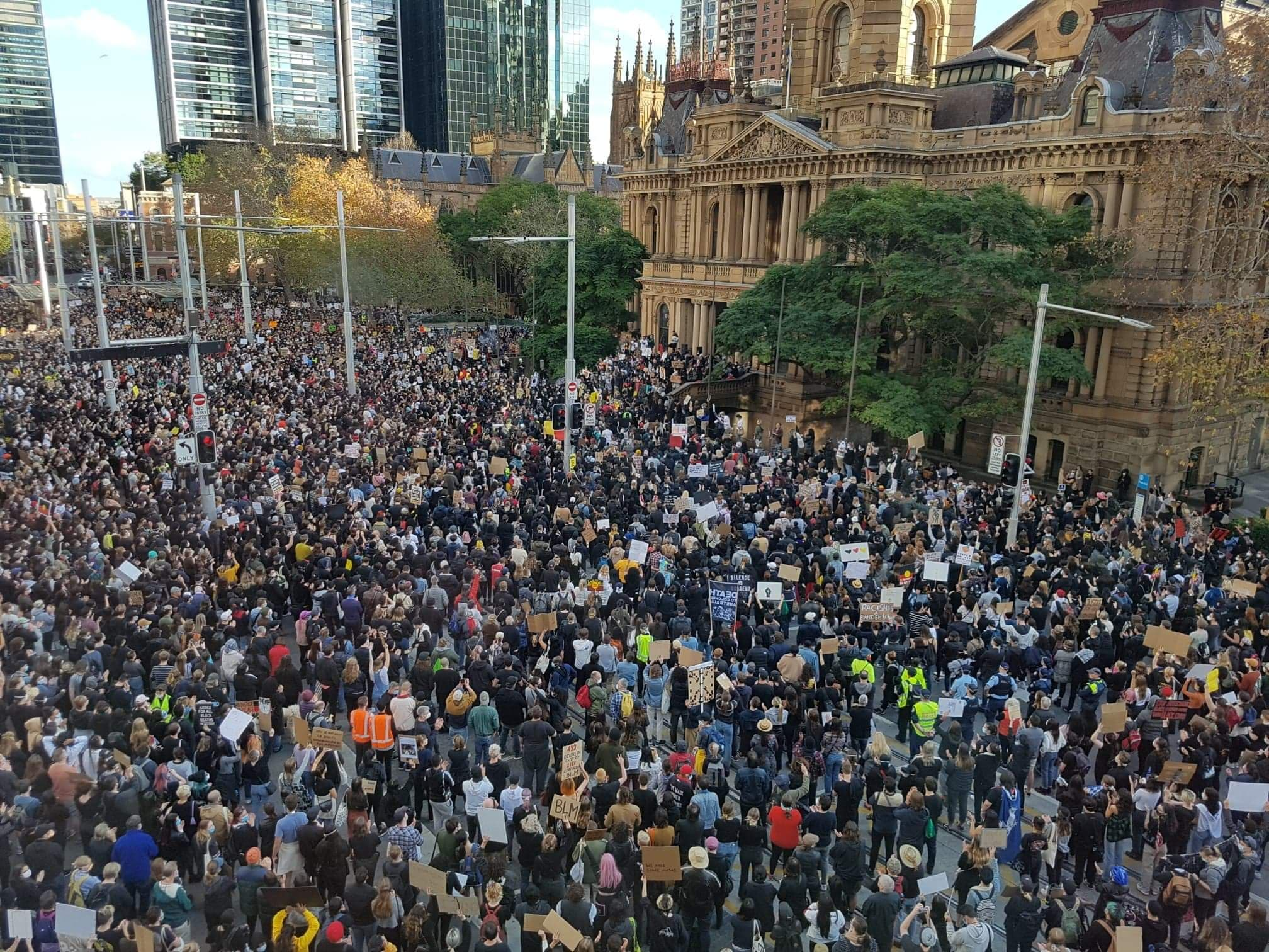 Protesters gathered in Sydney's CBD