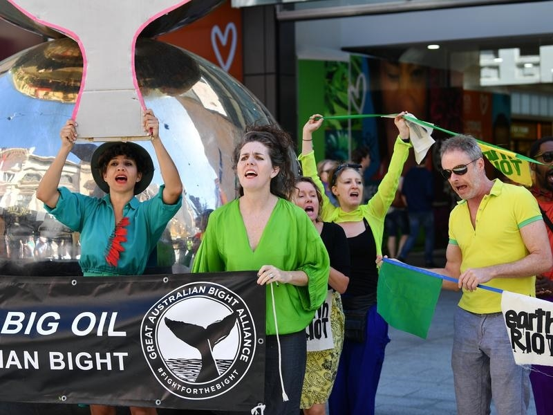 Protest against Equinor's plans to drill in the Great Australian Bight