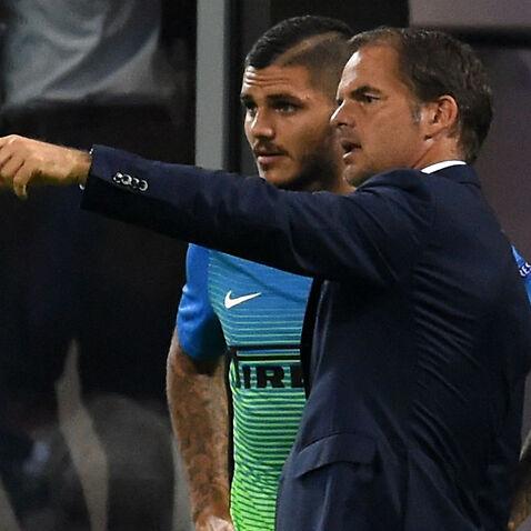 Frank de Boer Mauro Icardi Inter Milan
