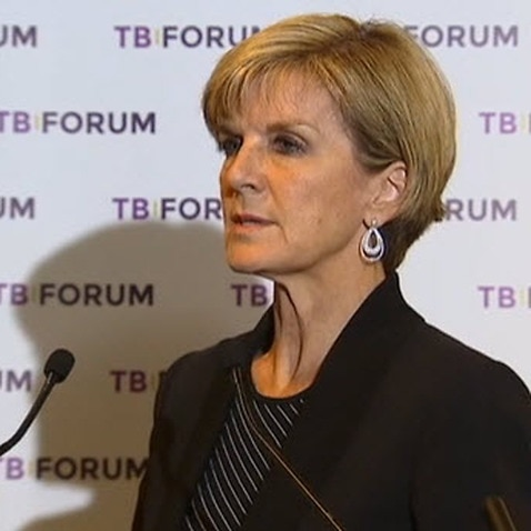 Spread of tuberculosis a 'security threat', Foreign Minister Julie Bishop says. (SBS)