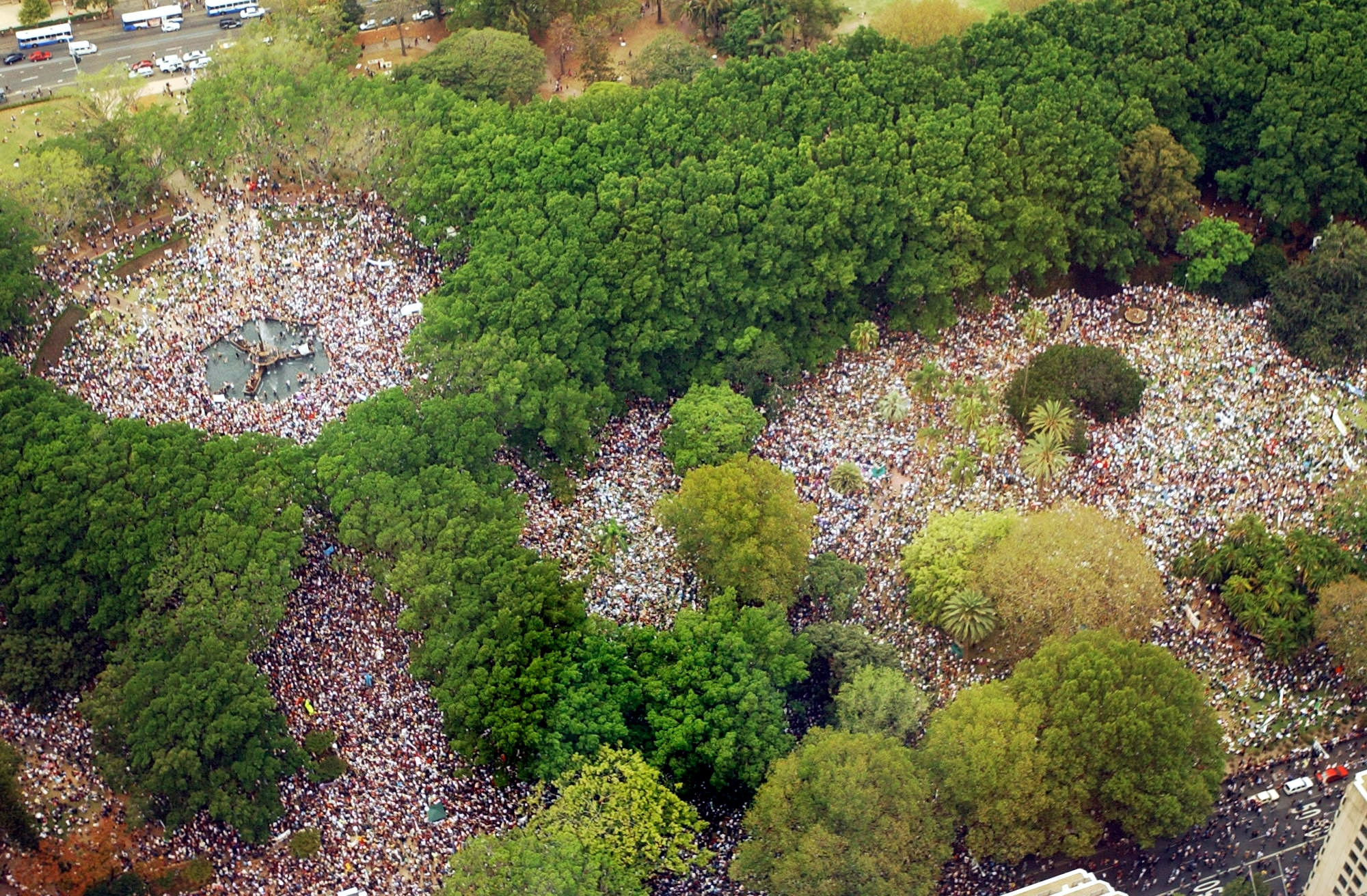 An estimated 250000 protesters marched through Sydney's CBD on 16 February, 2003, against Australia's involvement in Iraq.