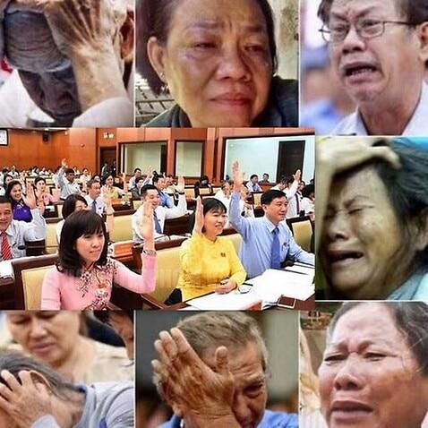 Đại biểu HĐND tươi cười thông qua việc xây nhà hát và dân Thủ Thiêm khóc vì mất nhà mất đất