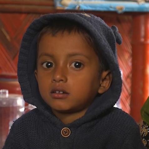 A Rohingya child in Cox's Bazar