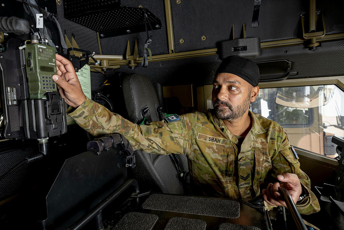 Corporal Shah worked on a project to improve digital communications in Land 121 vehicle fleet.