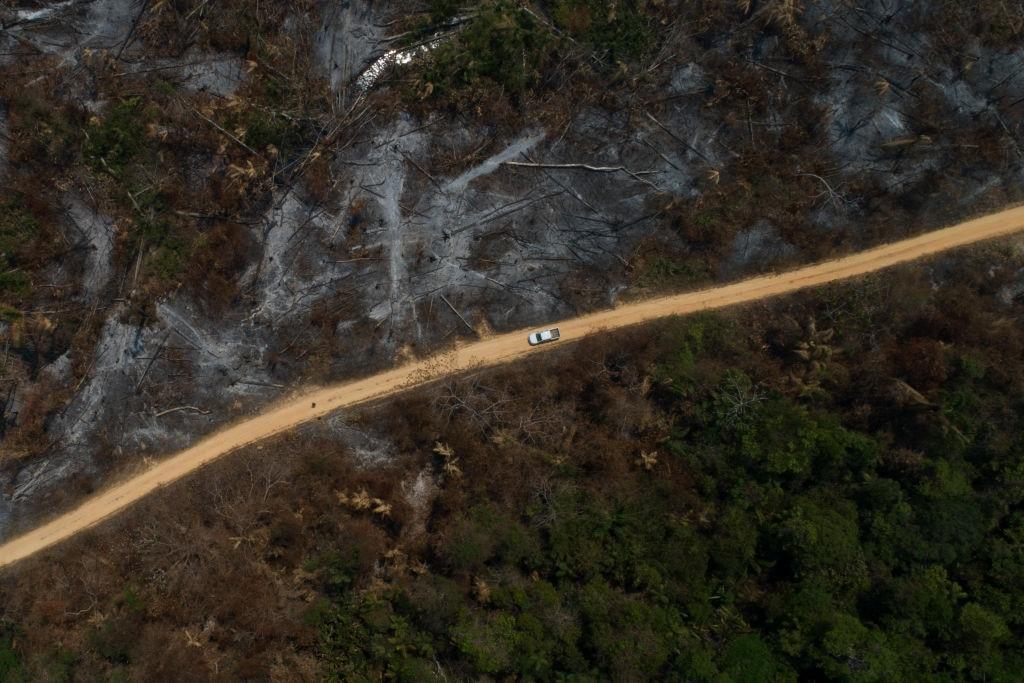 ブラジルのアマゾン地域で火災