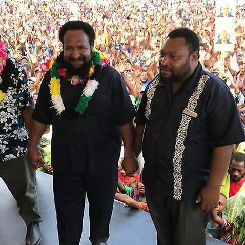 PNG election campaigning in full swing.