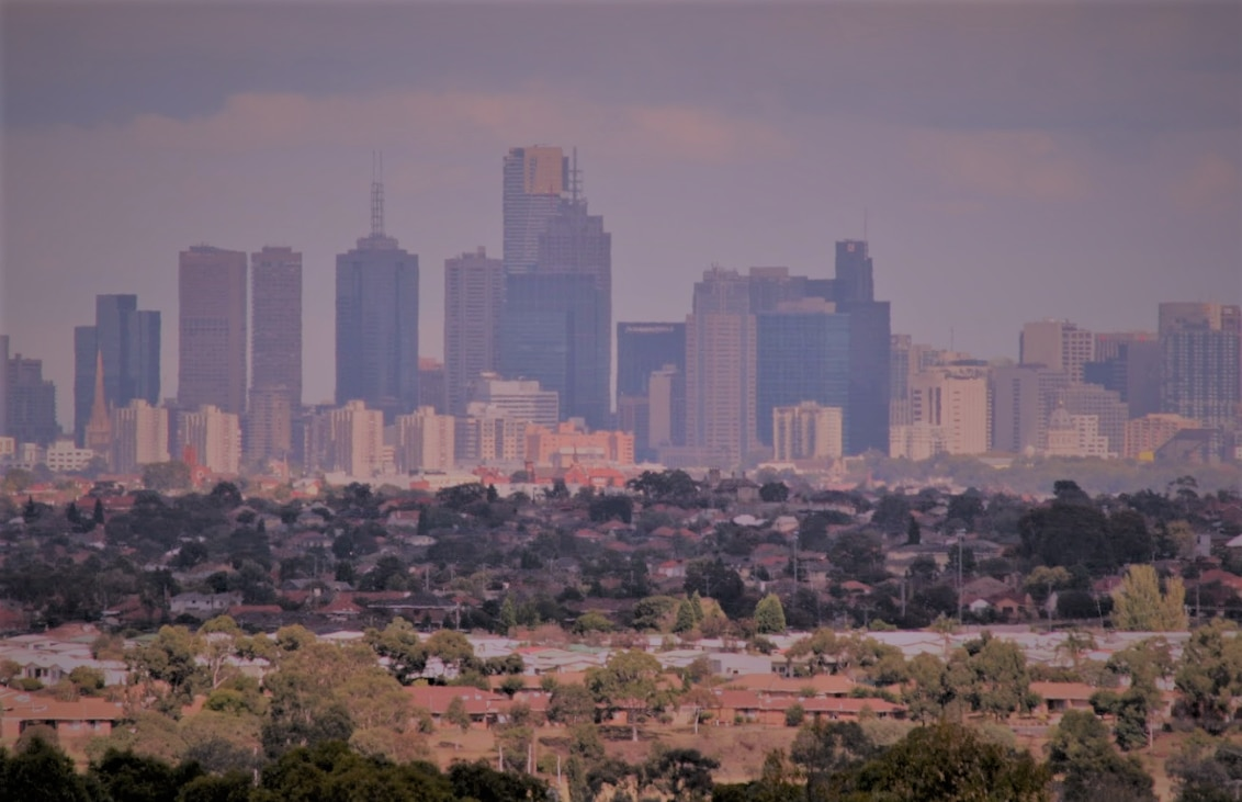 Melbourne CBD from Bundoora