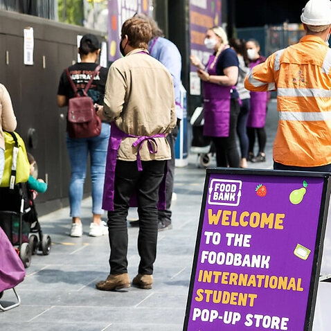 Foodbank Victoria opened a pop-up store for international students