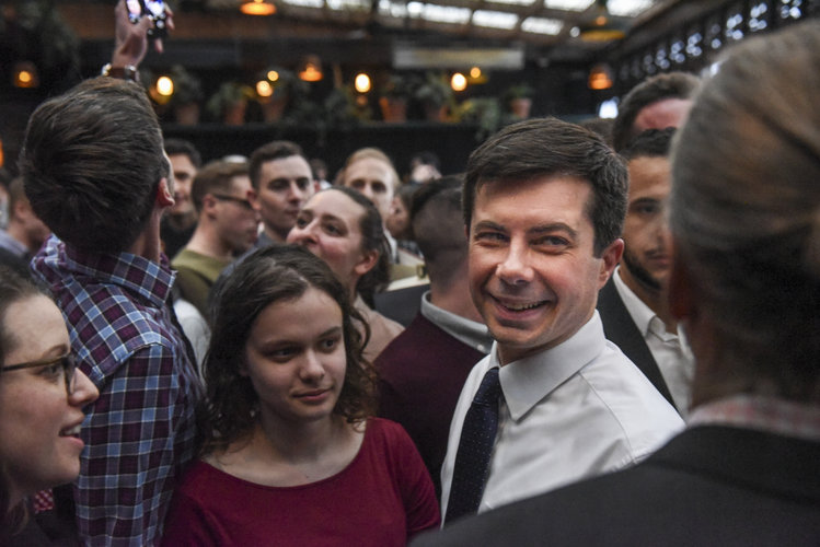 Buttigieg is meeting supporters