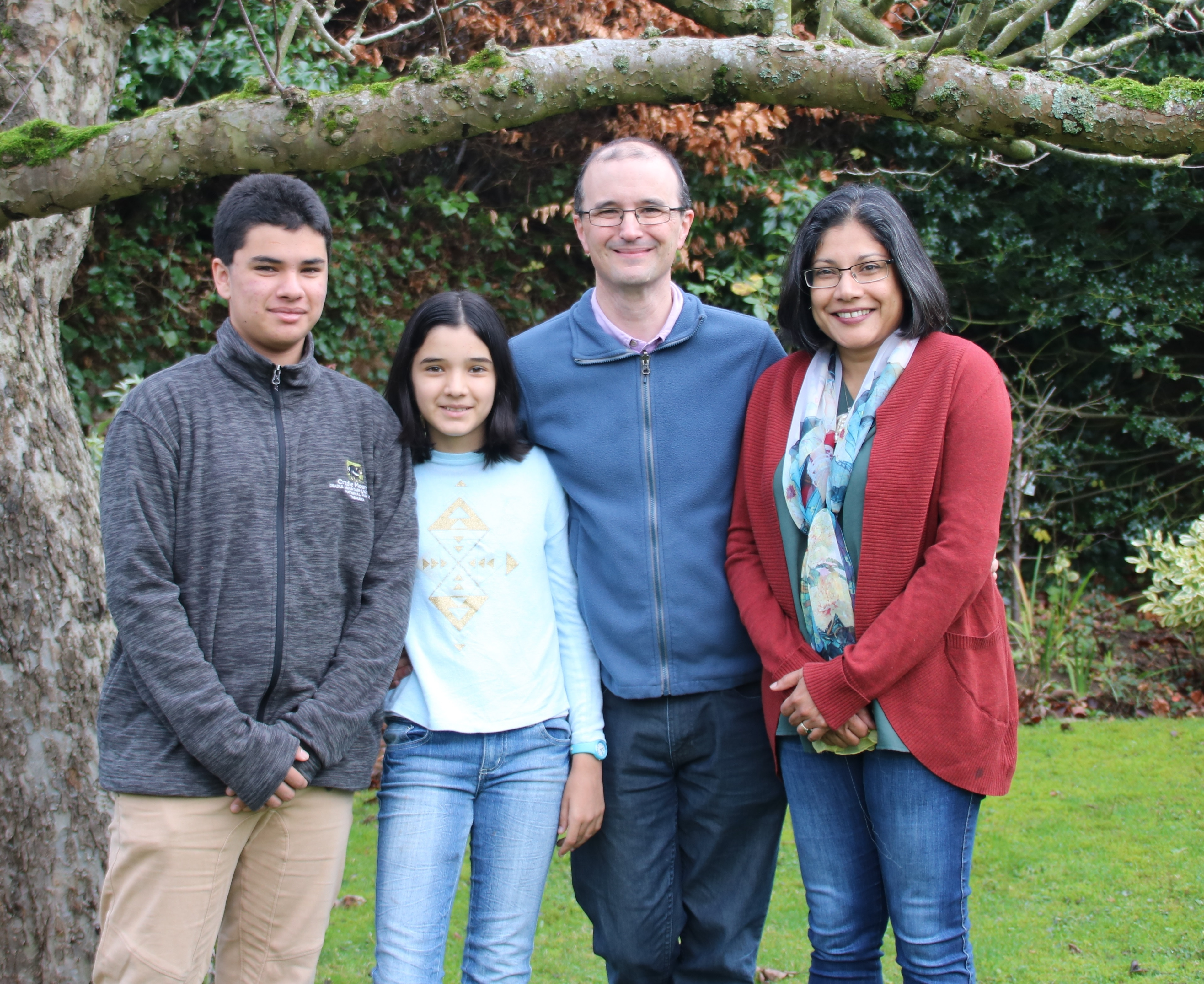 Chris Goringe, with wife Sureka and children Jeyanth and Maya during their last trip to the UK in 2018.