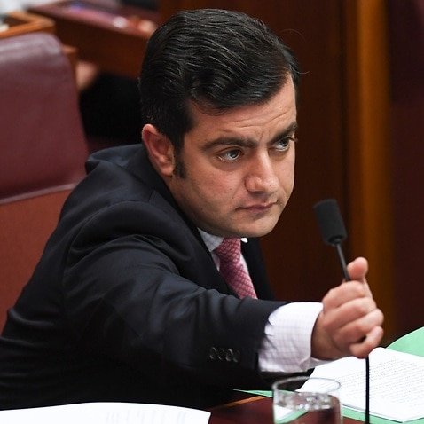File image from November 30 of Labor Senator Sam Dastyari