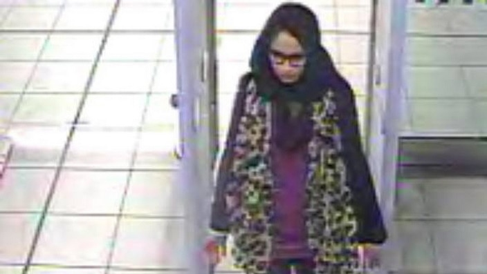 Shamima Begum begins her journey to join IS at Gatwick Airport in 2015