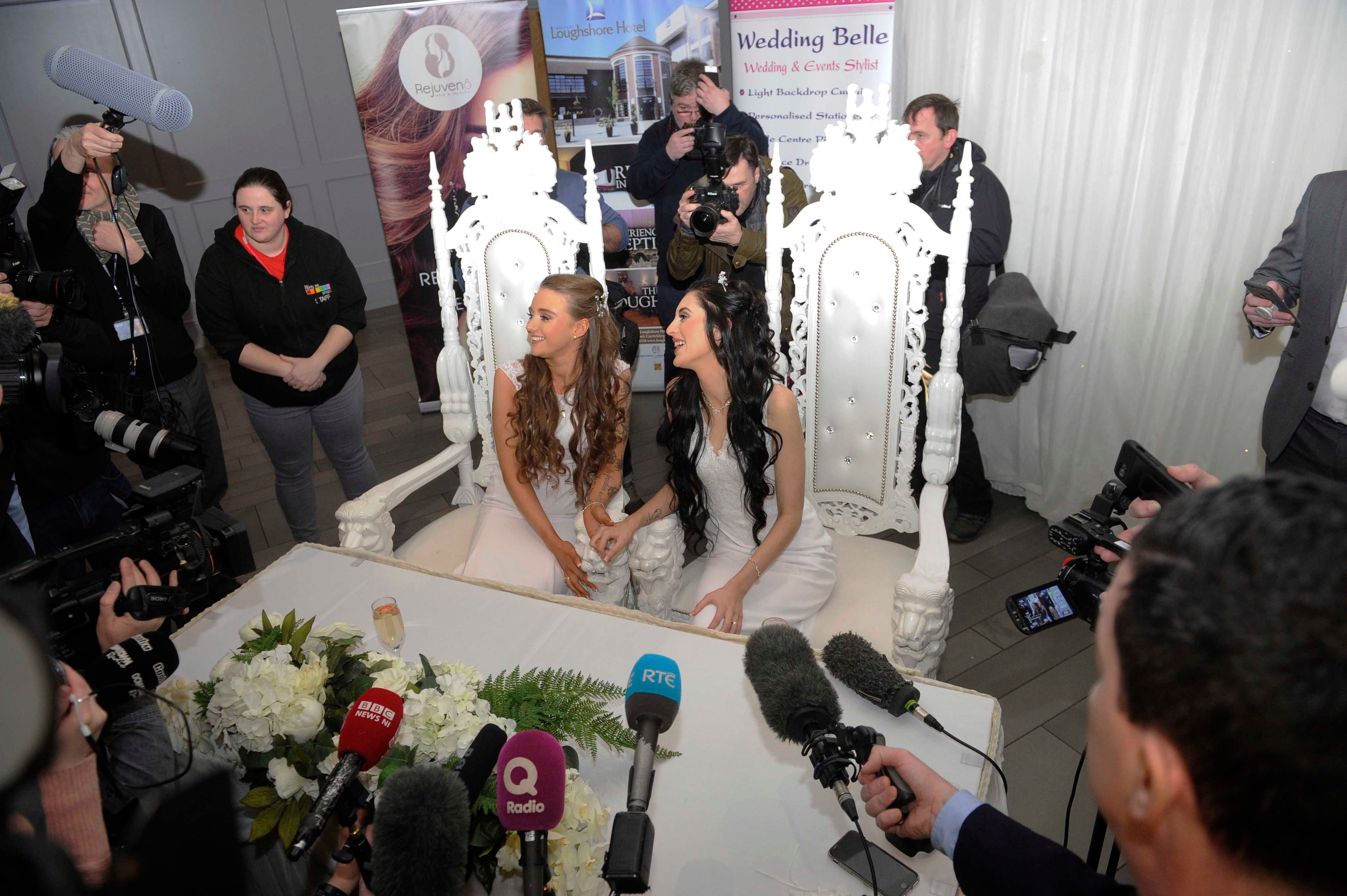 The couple from Belfast is the first same sex couple got married in Northern Ireland.