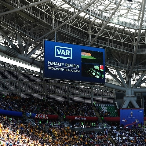 The VAR was used at the World Cup during Australia's clash against France.