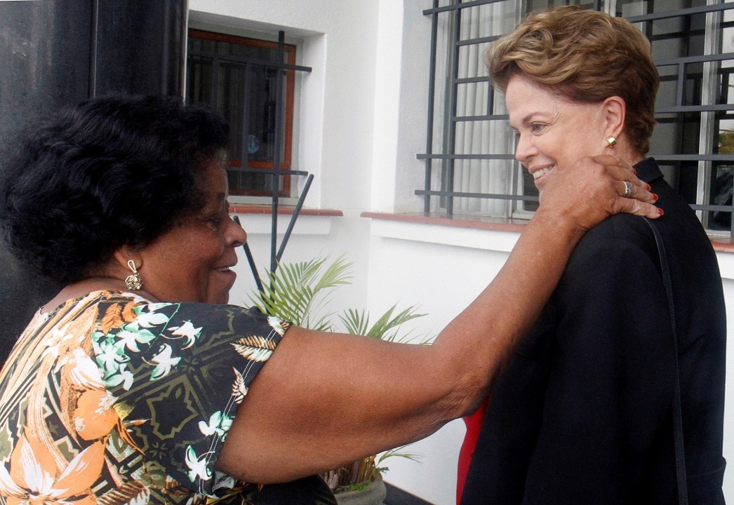 Former Brazilian President Dilma Rousseff after voting at a polling station in Belo Horizonte, Brazil.