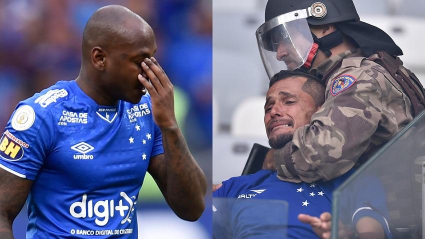 Fans detonate bombs as Cruzeiro go down