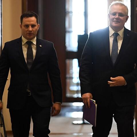 Prime Minister Scott Morrison and Immigration Minister Alex Hawke