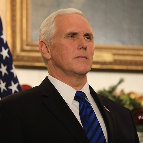 File image of US VP Mike Pence
