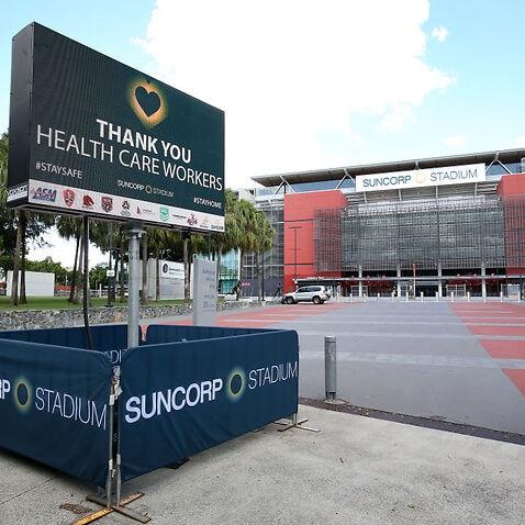 Brisbane Stadiums Remain Unused Under Covid 19 Restrictions on Sport.