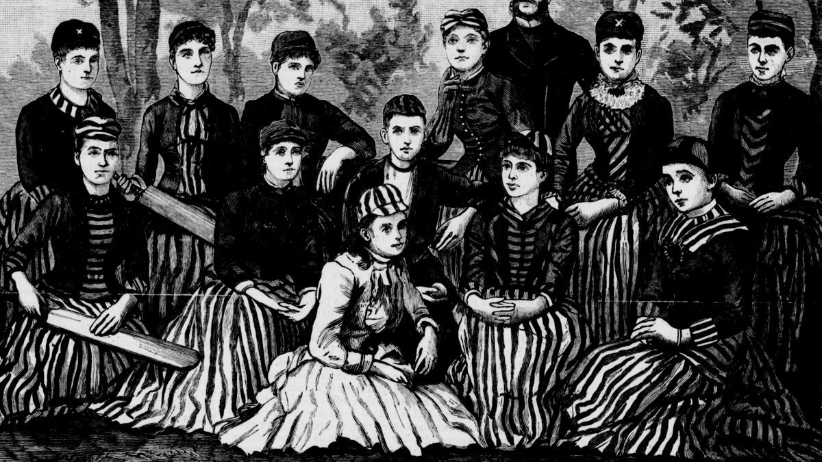 The Fernleas, one of the teams in NSW's first women's cricket match, pictured in 1886.