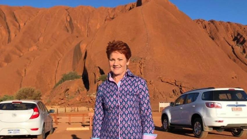 Pauline Hanson at Uluru.