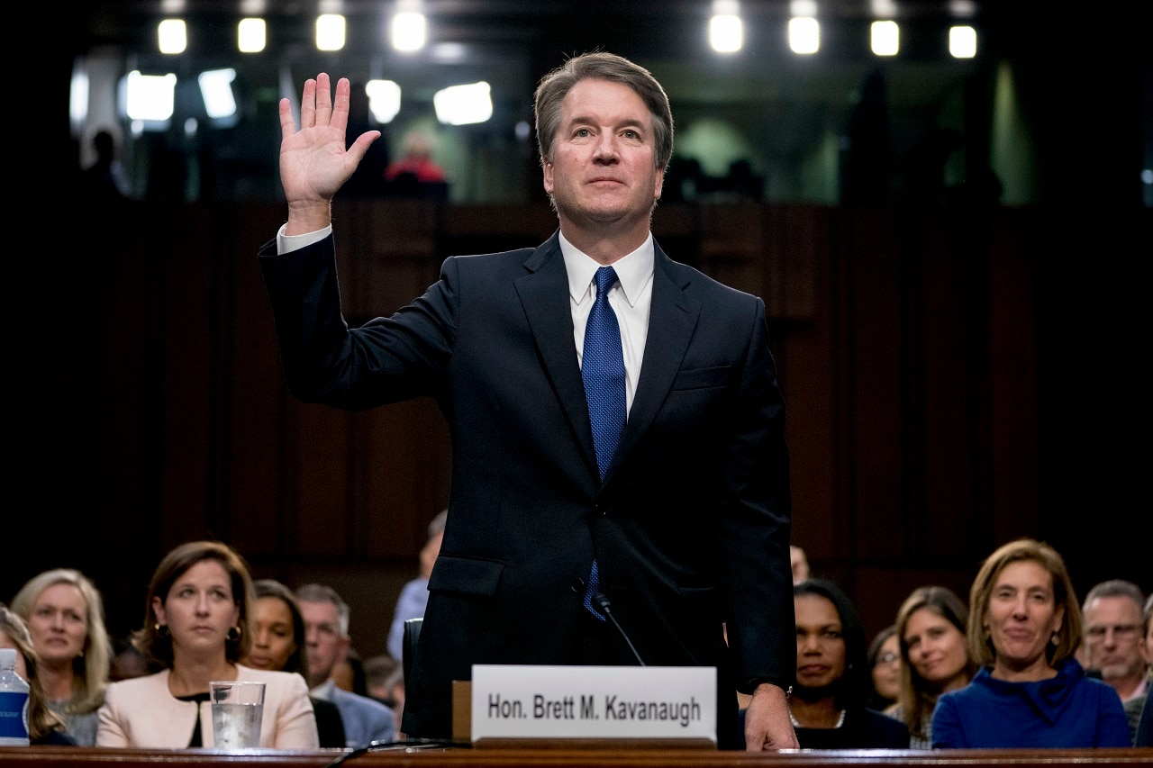 Protesters continue to interrupt Kavanaugh hearings