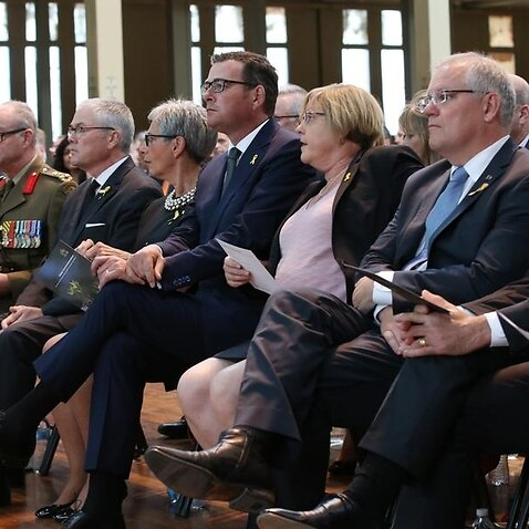 PM and guests at the 10-year anniversary of the Victorian bushfires