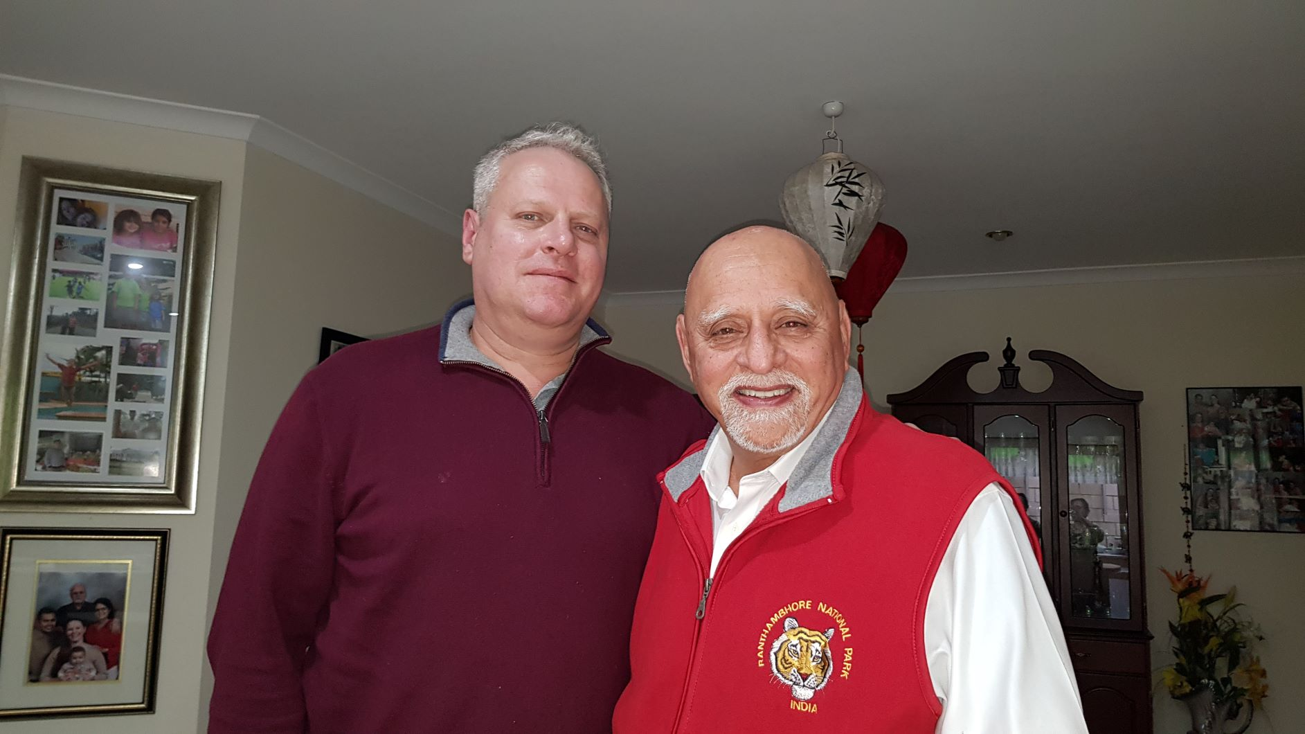 Col Harpal Ahluwalia with David Tomlinson, the great great grandson of Charles Des Voeux of 36th Sikhs