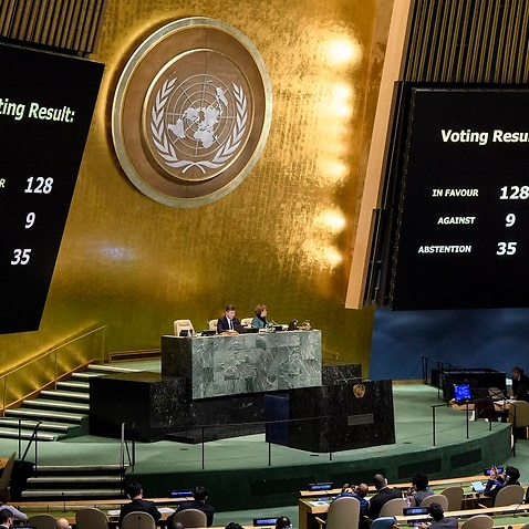 Some 128 countries have defied Donald Trump to vote against Jerusalem as Israel's capital at the UN.
