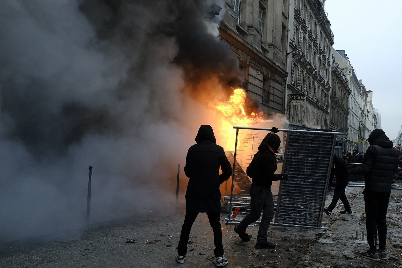 The protests turned violent on Thursday.