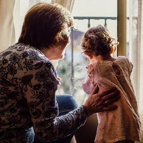 Representational picture of grandparent and granddaughter