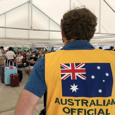 Australians leave Peru.