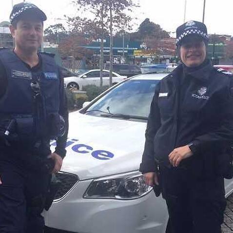 Sergent Maha Sukkar, right, and partner Leading Senior Constable Jason Waterson