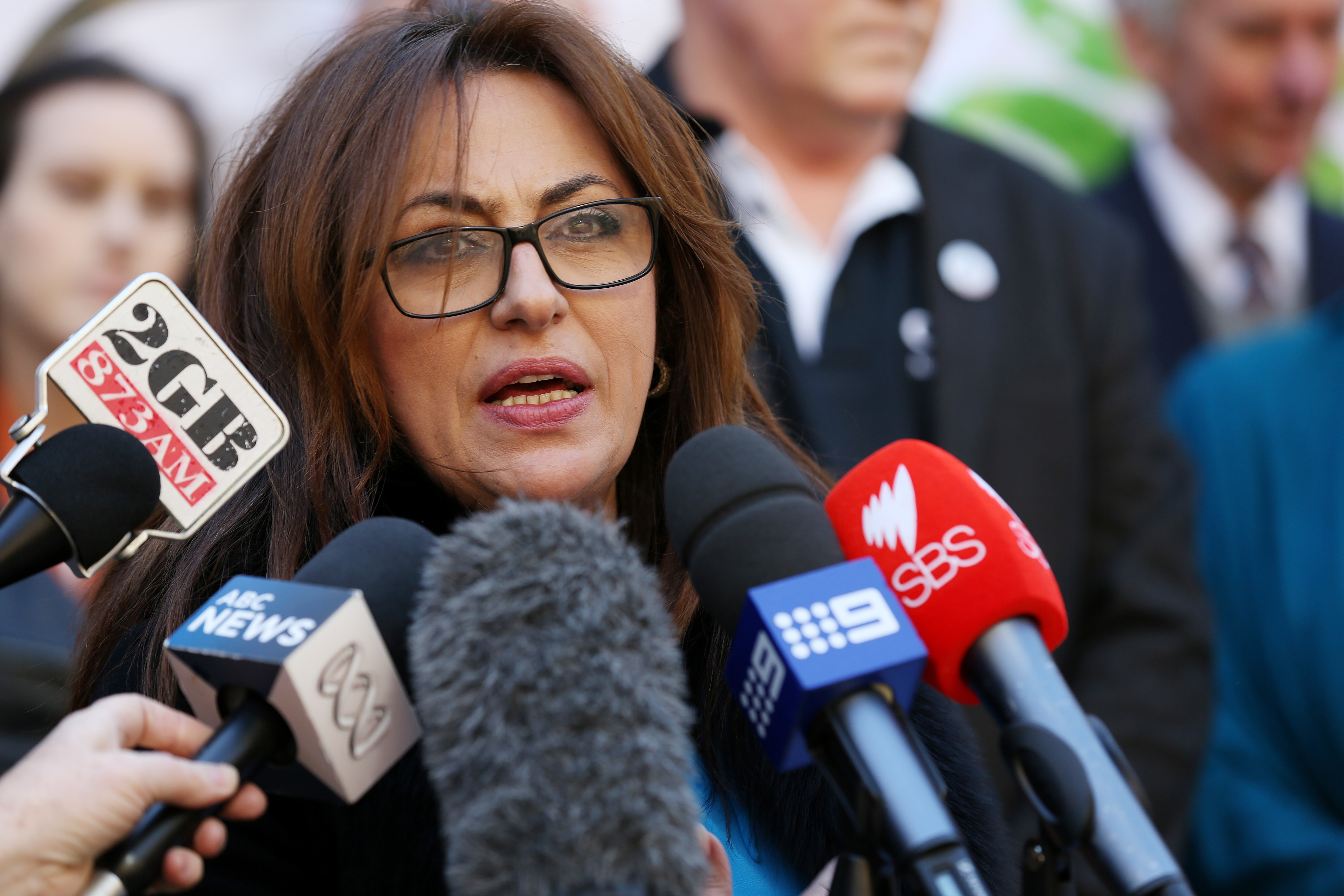 Arab Council of Australia CEO Randa Kattan responds to the Prime Minister's decision to abandon plans to repeal Section 18C of the Racial Discrimination Act in Sydney, Wednesday, Aug 6, 2014. (AAP Image/Nikki Short) NO ARCHIVING