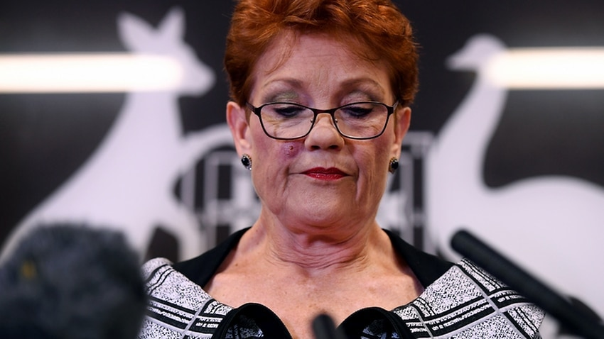 "Support for Pauline Hanson said she was ""gobsmacked""."