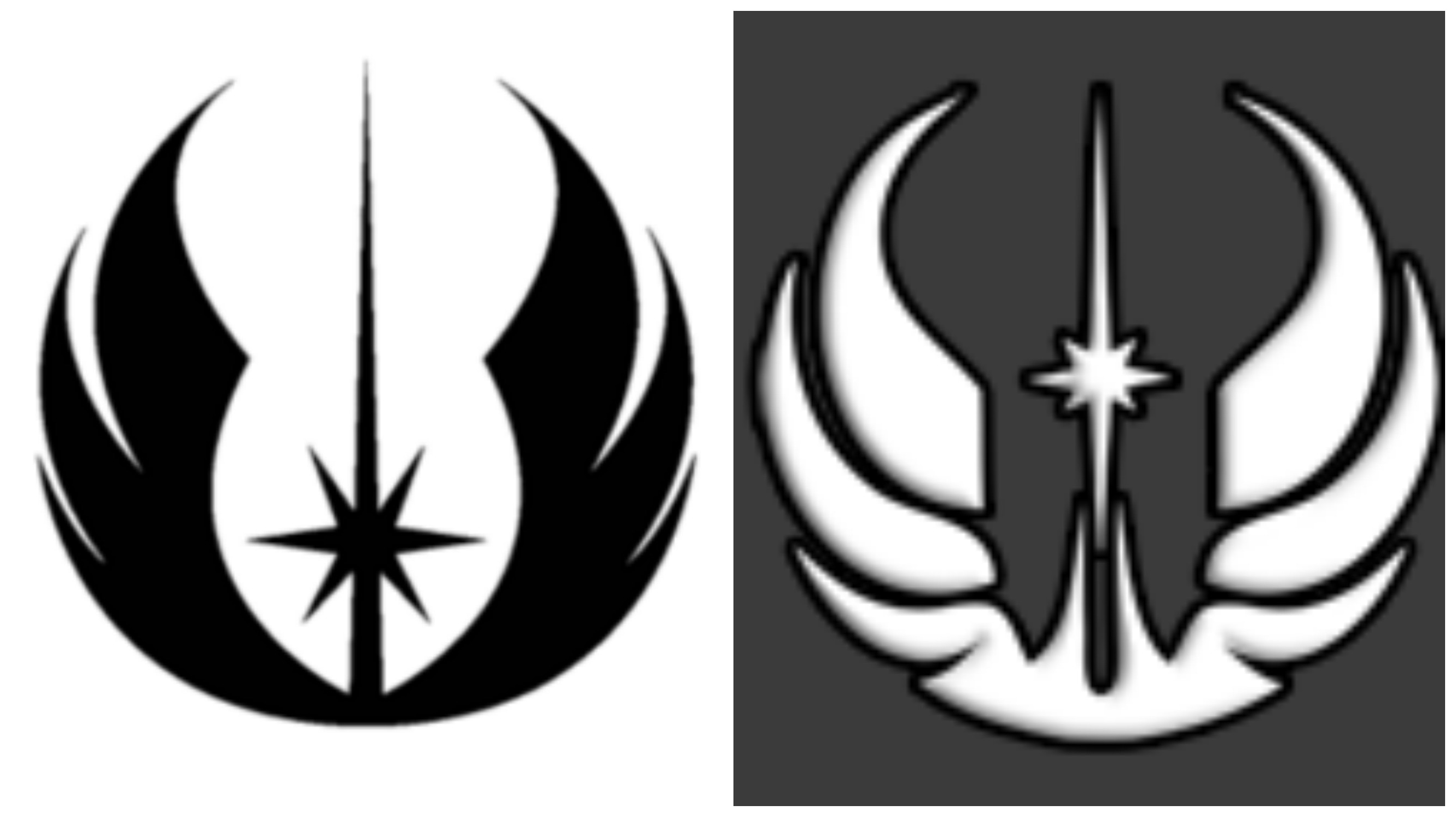 Lucasfilms sues jedi school in foolish attempt to own the use of the lawsuit claims that the academys symbol right is similar to their trademarked jedi order logo left biocorpaavc